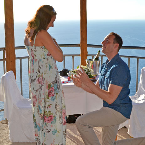 Wedding proposal in Zakynthos Zante