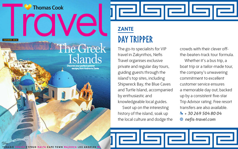 Nefis Travel on Thomas Cook magazine